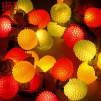 best artificial tree - 29 Heads Litchi Fruit Christmas Lights Luxury Artificial Christmas Tree Ornament Best Christmas Gift Decorations For Home