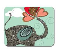Wholesale Elephant Mouse Pad Personalized Unique Design Oblong Shaped Elephant Mousepad