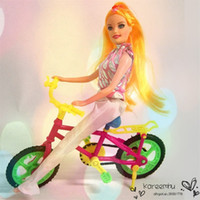 baby doll pants - Baby Girl Toy Bicycle Plastic Bike Doll Children Play House Outdoor Simulation Accessories Kids Birthday Gift cm X cm