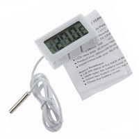 aquarium thermometer - New Mini LCD Embedded Electronic Digital Thermometer Meter Aquarium Refrigerator Indoor Kitchen Termometro Waterproof with Probe