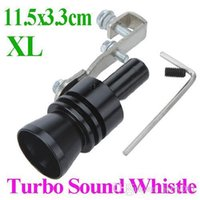Wholesale Universal Car Vehicle Turbo Sound Whistle Exhaust Pipe Tailpipe Fake BOV Blow off Valve Size XL cm Black Brand New