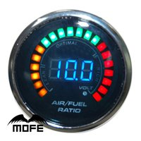 Wholesale Original Logo mm quot LCD Digital Air Fuel Ratio Auto Gauges for Car With Stepper Motor
