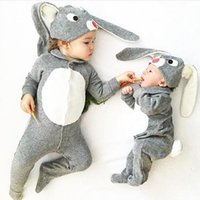 big onesie - Cute Fashion Baby Boys Girls Romper New Autumn Cartoon Long Sleeve Big Ears Tail Cotton Infant Onesie Bow Toddler Jumpsuit Grey A5787
