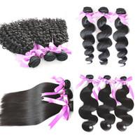 Factory Outlet Barato brasileño cabello Bundle Comercio al por mayor sin procesar el pelo humano tejido sedoso recto ondulado profundo cabello natural negro Mongolia cabello