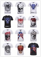 achat en gros de haute couture marques pour-Été Hommes Mode Marque PP Manches Courtes T Shirt Hommes Occasionnels Solid Couleur Haute Qualité Crânes Philipp-Plein Sports Tee-shirts # 888124