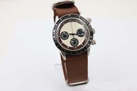 auto coffee - New Arrival Fine Brand Quartz Men s Wristwatch Ti3 Coffee Fabric Belt Platinum Skeleton White Face Black Bezel Cosmograph Male Watch