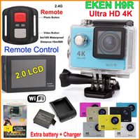 action camera hd remote - Action Camera Remote Control EKEN H9R Ultra HD K WiFi P LCD Helmet Cam waterproof camera SJ4000 style Extra battery charger