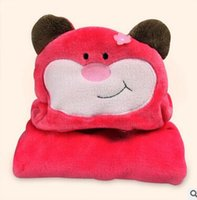 baby bath towel with hood - Fly the new children s bathrobe is soft Cape with hood Red monkey Soft and cute baby cloak bath towel animal model carpet