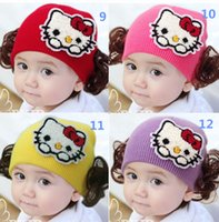 baby monkey cap - Fashion Spring Autumn Winter Warm Ear Wig Baby Cap Children Cartoon Animal Cute Rabbit Monkey Knitted Hat Beanies