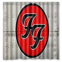 banded curtains - Foo Fighters Music Band Pattern Custom x cm Waterproof Fabric Fashion Bath Shower Curtain