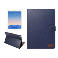Wholesale Crazy Horse PU leather stand Case For ipad pro inch Flip Case with card slot tablet cover