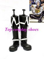 allen walker boots - Freeshipping D Gray Man Allen Walker Black Cosplay Boots shoes hand made Custom made for Halloween Christmas