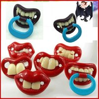 Wholesale 2016 hot baby pacifier funny pacifier Cute Teeth Mouth Baby Boy Girl Infant Pacifier Orthodontic Dummy Teeth Nipples Pacifiers safe