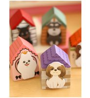 Wholesale 2016 Puppy cartoon sticky notes creative stationery post it notepad filofax memo pads office supplies school house