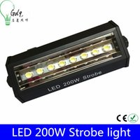 Wholesale Led Strobe Lights W Lead Lighting AC90V V High Quality DMX512 Led Flash Light For Party Club Wedding Event Stage Light bulbs