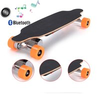 four wheel electric scooter - Four wheels skateboard self balancing scooter bluetooth hoverboard LG battery electric scooter smart standing skateboard