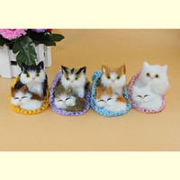 baby doll kittens - Super lovely artificial mommy and baby cats toy kat in slipper cute kittens pussy cat no mess sweet doll gift for child girls