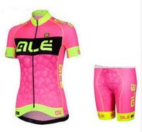 Wholesale 2016 New Arrival ALE team WOMEN cycling jerseys set with black short breathable anti Cycling Jerseys Customize Accepted