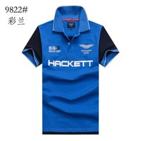 aston martin shirts - 100 cotton summer Embroidery Men s Hacket polo shirt masculine polos shirts men luxury aston martin racing tommy casual HKT shirt tops