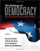 Cheap The Challenge of Democracy American Government in Global Politics 978-1285852973 10pcs