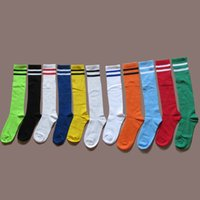 basketball socks for kids - Boys Kids Stripes Thin Sport Football Soccer Socks Above Knee Plain Socks Long Soccer Stockings For Children