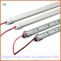 Wholesale 50X Hard LED Strip SMD Cool Warm White Rigid Bar LEDs Light With U Style Shell Housing With End Cap Cover