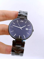 Wholesale 2016 new men s women s stainless steel watch high quality luxury brand watches waterproof black couple watches student table