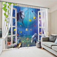 Wholesale Palm Tree Window Curtain D Curtains for living room bedroom Blackout drapes rideaux pour le salon Tailored made Luxury Relaxing classy