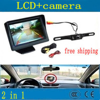Wholesale 4 Inch TFT LCD Color Display Screen Car Rear View DVD VCR Monitor IR LED Lights Night Vision Rearview Reversing Camera