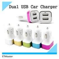 Wholesale Promotion Metal A Dual USB Car Chargers Port Car Adapter For ipad Samsung S7 Galaxy HTC