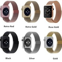 Wholesale Good Quality Colors Magnetic Milanese Loop Watch Band For Apple Watch iWatch Stainless Steel Strap With Connector Adapters mm mm