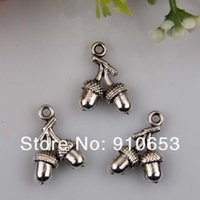 acorn charm - Hot Antique Silver Zinc Alloy Acorns charms Pendants x11mm DIY Jewelry