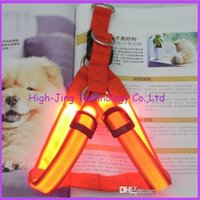 Wholesale Pet supplies Safety Dog Pet Belt Harness Glow LED Flashing Light Mode Leash Tether Colors light up dog harness