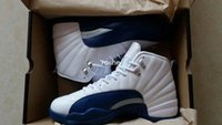 Wholesale 2016 Retro French Blue Mens Basketball Shoes High Quality J12 Size