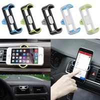 Wholesale Universal Car Air Vent Cell Phone Holder In Car Mount For Your Iphone Plus s Mobile Phones GPS Accessories Stand Holders