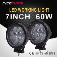 Wholesale 2PCS W CREE LED WORK LIGHT DRIVING LIGHT CAR SPOT FLOOD OFFROAD MACHINERY WD ATV SUV V V W LED WORK LIGHTS