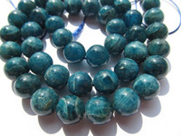 apatite beads - high quality mm full strand Natural Apatite Gemstone Round Ball Blue Loose Bead