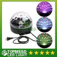 Wholesale Epacket new arrival Voice activated RGB LED Crystal Magic Ball laser DJ party Stage Lighting bulb Effect mini stage light lamp
