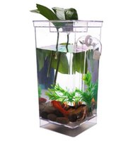 Wholesale Transparent NEW Kid My Fun Fish Self Cleaning Tank Complete Aquarium Setup Gift