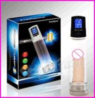 Wholesale Electronic LCD Penis Pump USB Rechargeable Male USB Rechargeable Male Vacuum Penis Extender Pump Suction Penis Enlargement