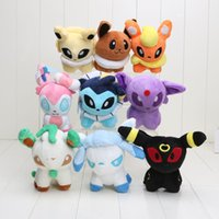 Wholesale In Stock Pikachu Plush Toy quot cm approx Umbreon Eevee Espeon Jolteon Vaporeon Flareon Glaceon Leafeon Plush doll stuffed Toys