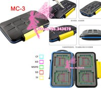 Wholesale 30pcs Waterproof Extremely tough Memory Card Case MC for CF SD XD MS Pro DUO