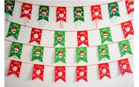 banner stand designs - 6 setsNew Designs Xmas Christmas Favor Gift Tree Hanging Flag Banner Ornament Gift Home Party Decorations Pull Flag Pub Banner