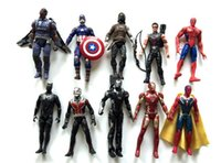 beautiful model homes - 16 cm Avengers Captain America Boxed Marvel Super Hero PVC Action Figure Collection Model Toy Gift LED Beautiful home furnishing articles