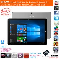 Wholesale inch Chuwi Hi12 Dual Os Windows10 Android Cherry Trail T3 Z8300 Quad Core GB RAM GB ROM HDMI Tablet PC Year Warranty