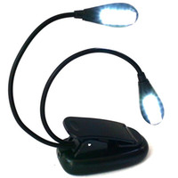 Wholesale ePacket LED Rechargeable Reading Lamp Music Stand Light Flexible Eye Care Dimmable Clip Light with USB Cord