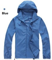 Wholesale HOT Men and Women Summer Sports Camping Fishing Thin Quick Dry Jackets Unisex Lightweight Coat Waterproof Windproof Breathable