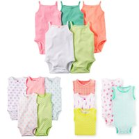 Cheap baby rompers cotton sleeveless infant one-pieces 2016 summer baby clothes climb jumpsuits foreign trade kids baby rompers