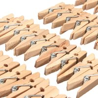 best school clothes - 100Pcs pack Best Promotion Mini Natural Wooden Clothes Photo Paper Peg Pin Clothespin Craft Clips School Office Stationery