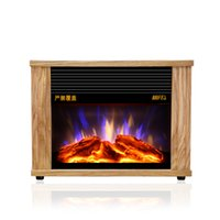 Wholesale vertical wood heater hot air heating machine energy saving electric heating household electric fireplace Office